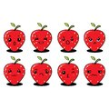 Llustration graphic vector of cute strawberry, set of cartoon tropical fruit characters in kawaii style, isolated on white backgro