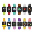 PrintColor variation smart watch Royalty Free Stock Photo