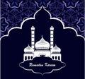 Ramadan kareem, greeting card islamic template, vector illustration