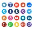 Network communication social media icons