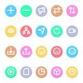 Social Media - 20 icons image. Royalty Free Stock Photo