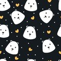 Seamless pattern hand drawn ice bear, on a neutral background. colorful vector for kids, fabric print, gift wrapping paper Royalty Free Stock Photo