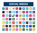 Square Social media icons pack. Royalty Free Stock Photo