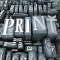 Print close-up Stock Photography