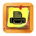 Print Concept - Yellow Sticker on Message Board. Royalty Free Stock Photo