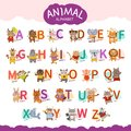 Vector animal alphabet