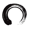 Japanese Enso Zen Black Ink Brush Vector Art