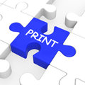 Print key shows printer printing or printout showing Royalty Free Stock Photography
