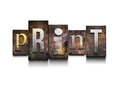 Print letterpress. Royalty Free Stock Photography