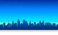 Print night city sky background vector Royalty Free Stock Image