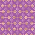 Seamless embroidered repeat pattern Royalty Free Stock Photo
