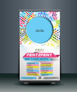 Print Shop Roll Up Banner Royalty Free Stock Photo