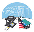 Print shop tools Royalty Free Stock Image