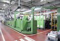 Print shop: UV flexo press printing Royalty Free Stock Photo