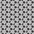 Print spirals with flowers and butterflies seamless texture in the form of black white suitable for tissue packaging Royalty Free Stock Images
