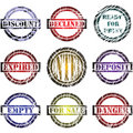 Print stamps Royalty Free Stock Images