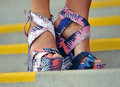 Print strappy shoes Royalty Free Stock Images