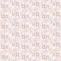 Happy word seamless pattern.Vector illuatration Royalty Free Stock Photo
