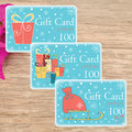 Print your own Cute Christmas Cards and gift tags Royalty Free Stock Photo
