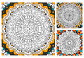 Printable antistress coloring book page for adults - mandala design