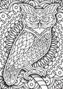 Printable coloring book page for adults