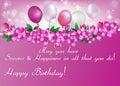 Printable Elegant Birthday greeting card for woman