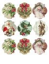 Printable Tag Sheet - Gift Tags - Vintage Christmas Tag Assortment Royalty Free Stock Photo