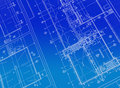 Printed Blueprint Stock Photo