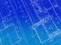 Printed Blueprint Royalty Free Stock Photo