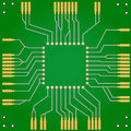 Printed circuit board for central processor unit Royalty Free Stock Photo