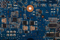Printed circuit board macro photography Royalty Free Stock Photo