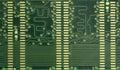 Printed Circuit Board, rear of Ram board Royalty Free Stock Photo