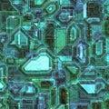 Printed wiring Stock Image