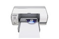 Printer with the ability to print on cds for offices Stock Image
