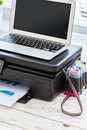 Printer and computer Royalty Free Stock Photo