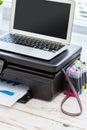 Printer and computer Royalty Free Stock Photo