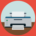 Printer flat vector illustration a of a home Stock Photo