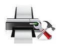 Printer setting tools illustration design over a white background Royalty Free Stock Photo