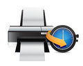 Printer timing watch clock illustration design over a white background Royalty Free Stock Photo