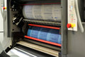 Printing documents using rotary press machine plenty of or papers Royalty Free Stock Photography