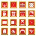 Printing icons set red