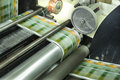 Printing labels on Label Printing machine Royalty Free Stock Photo