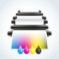 Printing machine this is file of eps format Royalty Free Stock Image