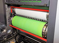 Printing - Offset press, detail Royalty Free Stock Photo