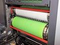 Printing - Offset press, detail Royalty Free Stock Photo