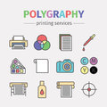 Printing polygraphy infographic