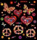 Prints for hippie design