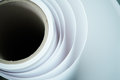 Printshop paper roll Royalty Free Stock Photo