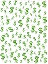 Priorità bassa dei segni del dollaro dei soldi Fotografia Stock Libera da Diritti