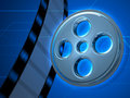 Priorità bassa di vetro del nastro 3D di film Fotografie Stock Libere da Diritti